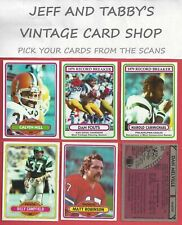 1980 TOPPS FOOTBALL 353-528 SEE SCANS