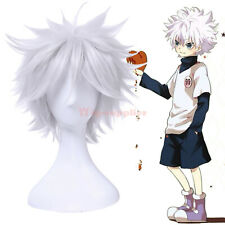 Killua Gintoki Aohitsugi Samatoki Silver White Short Cosplay Wig Fluffy Hair