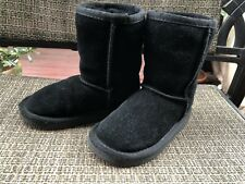 Ukala by EMU Australia Toddler  Wool Lining Black Suede Boots Size 8
