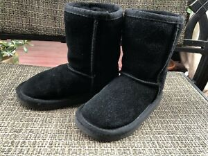 Ukala by EMU Australia Toddler  Baby Fur Black Suede Boots Size 8