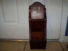 Vintage LARGE BIG Primitive Wood ORGANIZER Letter Holder Separator Wall Box