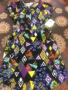 LulaRoe Disney Mae Kids 10 Dress Pockets Skulls Sally Nightmare Christmas NWT