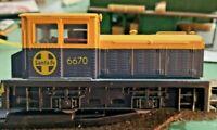 HO scale RSO ATSF  Santa Fe Diesel Yafd Switch Engine   no 6670