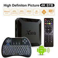Allwinner X96Q Quad Núcleos 16GB/2GB Android 10.0 Wi-Fi 4K Voz Control TV Caja