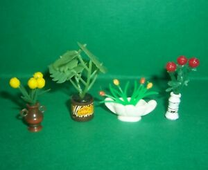 VINTAGE 1970's LUNDBY DOLLS HOUSE PLANTS AND FLOWERS