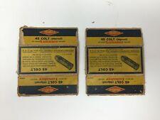 Two (2) Vintage Western Cartridge Box - 45 Colt - Lubaloy - Empty Boxes