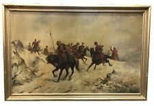 "ALEKSANDRE ZACHAROV (RUSSIAN, 1886-1963) ""COSSACK MOUNTED WARRIORS"" OIL"