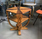 French Art Deco Burl Wood Two-Tier Occasional Table or Side Table