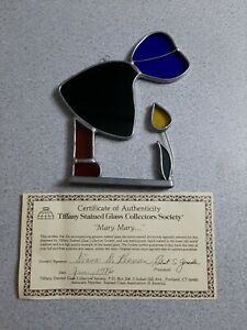 VINTAGE TIFFANY Mary Mary... STAINED GLASS COLLECTORS SOCIETY WITH COA