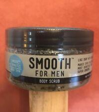 SMOOTH FOR MEN Body Scrub Eucalyptus Spearmint 8oz Soap Soft Sensitive Skin New