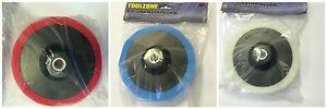 3 x 150mm Polishing Head Pad Mop Sponges M14 Thread Compounding Buffing (M/S/F)