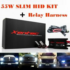 XENTEC Xenon Light 55W HID Kit 880 H3 H4 H7 H11 H1 9005 9006 + Relay Harness