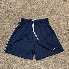 Vintage Nike Satin Soccer Athletic Shorts Drawstring Mens Size M Striped