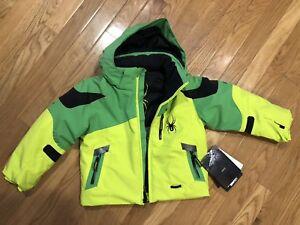 Spyder Boys Mini Leader Jacket, Ski Snowboard Winter Jacket, Size 3 Boys, BNWT