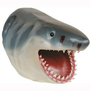 Shark Head Jumbo Realistic Replica Wall Decor Animal Head Marine Mammal