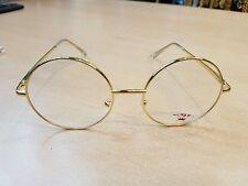 Rotonda lente Oro in Metallo Telaio Occhiali da Sole John Lennon Oozy 60s Harry Potter Retrò