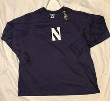 Sz 3XL NWT Champion Northwestern Wildcats Long Sleeve Raglan Shirt Purple
