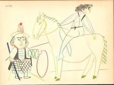 Pablo Picasso-Farblithografie Verve 29-30 clown avec cheval et Cirque