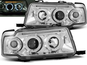 Headlights for Audi 80 B4 1991-1993 1994 1995 1996 VR-1114 Angel Eyes Chrome