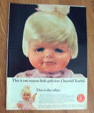 1966 Mattel Ad Cheerful Tearful Doll Switch N Go Thingmaker Barbie Kiddles Guns