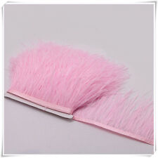 Baby Pink Ostrich Feather Trims Fringes Sewn on Feather 1 Yard