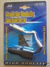 2 pcs BLUE LED ILUMINATING READING AUTO LAMP 12-VOLT FLEXIBLE MAP LIGHT JM-5350