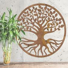 New Rustic Round Tree of Life Wall Art