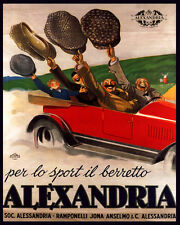 MEN'S FASHION ALEXANDRIA HAT CAP FOR SPORT 8X10 VINTAGE POSTER REPRO FREE S/H