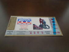 1987 INDY 500 TICKET STUB AL UNSER WINNER BOBBY RAHAL PIC EX-MINT