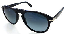 PERSOL 649 54 BLACK S3 BLUE POLARIZED NERO SUNGLASSES CUSTOM PERSONALIZZATO