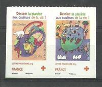N°237 + 238 - Timbres Autoadhésifs - Croix-Rouge - 2008