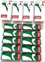 4 x SWAN MENTHOL EXTRA SLIM FILTER Tips 10 x SWAN GREEN CIGARETTE ROLLING PAPERS