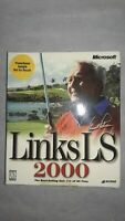 Links LS 2000 PC Game & Course Pack Windows Golf Microsoft, Open Box