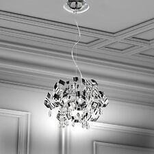WOFI lámpara colgante Moulin 6 Luces Cromado COLGADURA 120 vatios 1824 Lumen Ø43