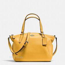 New Coach F57563 Mini Kelsey Satchel In Pebble Leather Banana Yellow NWT