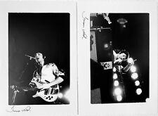 2 PAUL McCARTNEY WINGS 1976 ORIGINAL B&W SIGNED 10x8' PHOTO CONCERT SHEFFIELD
