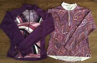 NEW! NWOT LOT(2) WOMENS CYCLING JACKETS Medium Purple Paisley FAST SHIPPING!