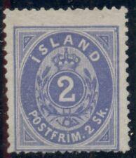 ICELAND #1 (1) 2sk blue, unused no gum, strong color, Scott $1,050.00