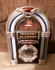 Country Classics Tabletop Jukebox Musical Collectible Wurlitzer Nostalgic euc