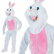 Adult Big Head Easter Bunny New Outfit Fancy Dress Mascot Costume White Rabbit