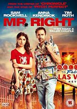 MR. RIGHT Sam Rockwell Anna kendrick Tim Roth DVD in Inglese NEW .cp