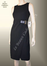 IVANKA TRUMP Women Dress Size 8 BLACK Sleeveless CREPE Knee Dressy LBCUSA