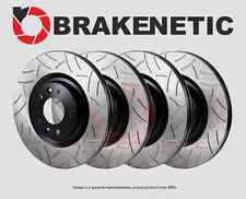 [FRONT+REAR] BRAKENETIC PREMIUM GT SLOTTED Brake Disc Rotors w/BREMBO BPRS89097