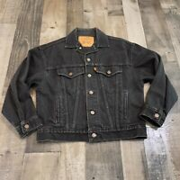 Levi Strauss & Co. Adult Womens Size Small 8/10 Button Up Black Denim Jacket