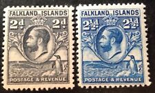 Falkland Islands 1929 2 x Stamps mint hinged
