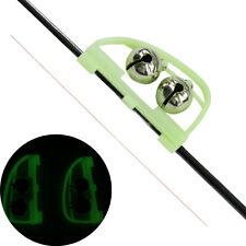 50X fishing bell Night luminous Rod Alert Ring fish bite alarm Fishing Accessory