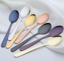 7 Farbwahl Dessertlöffel Teelöffel Edelstahl Besteck Geschirr Besteck