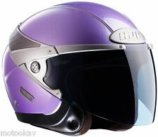 casco jet HJC ARTY VIOLET/LIGHT PURPLE S