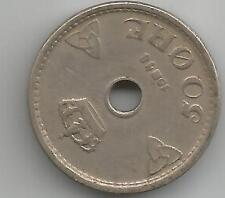 Norvegia Norvegese NORGE 10 minerale Coin 1925