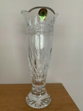 WATERFORD CRYSTAL 'JIM O'LEARY' CELEBRATION LISMORE BUD VASE 8' HIGH NEW